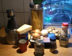 Ingredients for chicken Parm