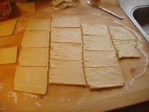 Now cut into squares.